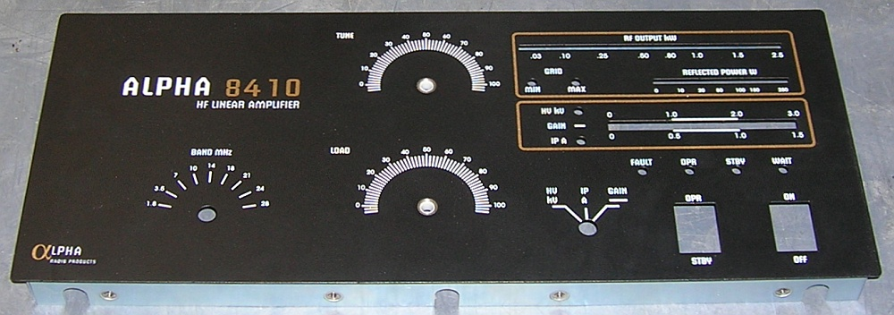 Front Panel, 8410
