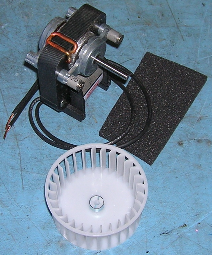 Blower Motor, 115 vac 60 Hz  with fan and new foam for bracket