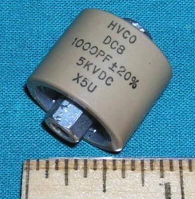 Capacitor, 1000pF 5kV doorknob, X5U