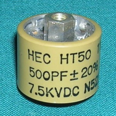 Capacitor, 500pF 7.5kV Doorknob