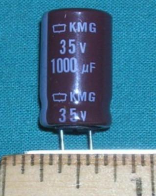 Capacitor, 1000uF 35V Electrolytic