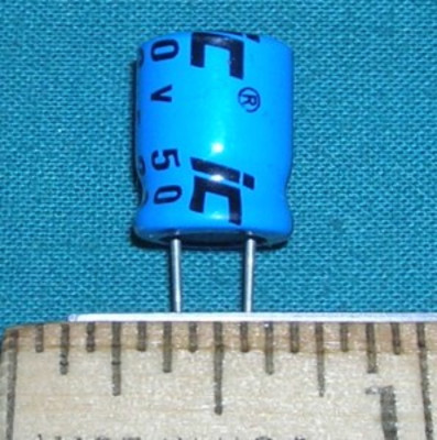Capacitor, 22uF 50V - Electrolytic
