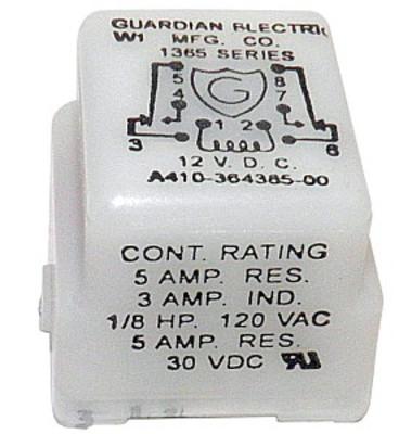 Relay, 12VDC Guardian DPDT 5A/30VDC