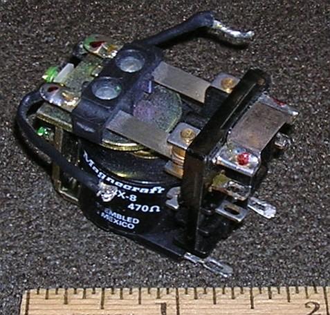 Relay, 24VDC DPDT 10A, Open Frame T/R