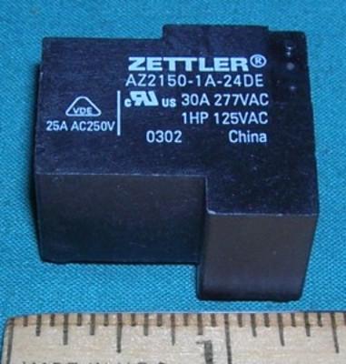 Relay, 24VDC SPST - 30A 277VAC pc mount