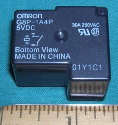 Relay, 5VDC SPST - 30A 250VAC pc mount