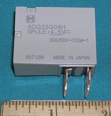 Relay, 4.5VDC SPST 30A 250VAC