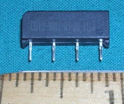 Relay, 5VDC SPST Reed Relay NO SIP 500mA 200VAC/DC