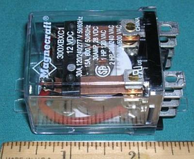 Relay, 12VDC 3PDT 30A 277VAC 15A 600VAC 30A 28VDC
