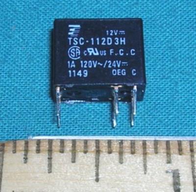 Relay, 12VDC SPDT 1A 120VAC 1A 24VDC
