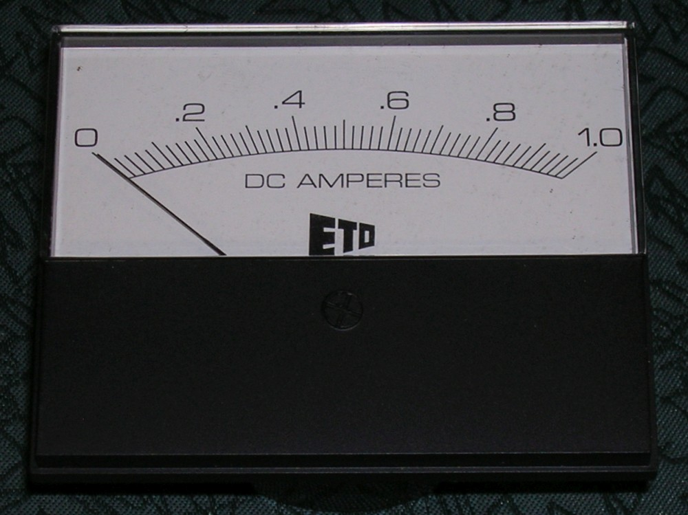Meter, Alpha 77Sx / 77Dx Ammeter, Black Case