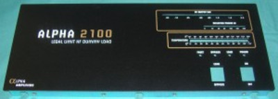 Front Panel, Alpha 2100 Dummy Load