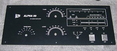 Front Panel, Alpha 99