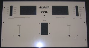 Front Panel,  Alpha  77Sx, 77D, 77Dx, 77S, Beige