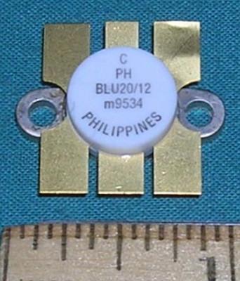 Transistor, BLU20/12 RF Power 12.5VDC 20W 470MHz