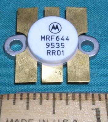 Transistor, MRF644 RF Power 12.5VDC 25W 512MHz