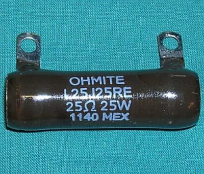 Resistor, 25 Ohm 25W wirewound