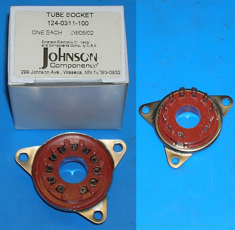 Socket, 3CX800 or 3CX400, EF Johnson 124-0311-100