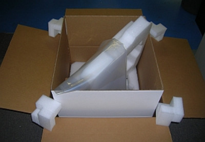 Box and Foam Kit, Inner and Outer, for Amplifier Shipping