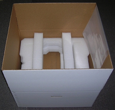 Box and custom foam kit, Amplifier INNER box, for shipping