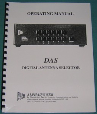 Alpha Digital Antenna Selector Manual